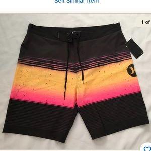 NWT Hurley Phantom Overspray Board Shorts size 34